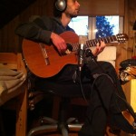 "Greg Lostracco recording ""Manha de Carnaval"" in the Dog House Studio"